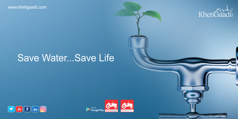 It takes a lot of blue to stay green: Save Water Today!