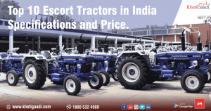 Top 10 Escort Tractors in India – Specifications and Price