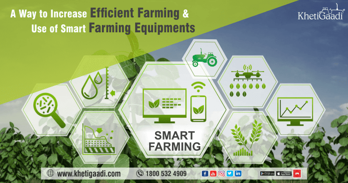 Smart Farming – A Way to Increase Efficient Farming and Use of Smart Farming Equipments
