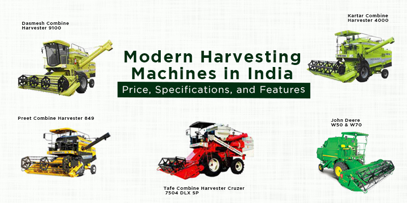 Modern Harvesting Machines in India – Price, Specifications, and Features