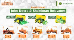 John Deere Rotavators and Shaktiman Rotavators
