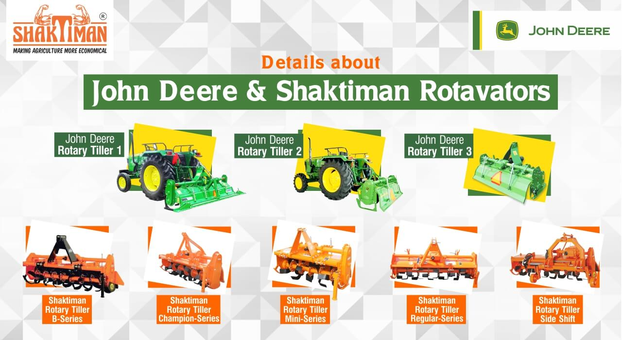 John Deere Rotavators and Shaktiman Rotavators