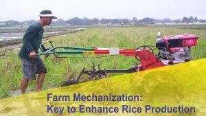 Farm Mechanization: Key to Enhance Rice Production
