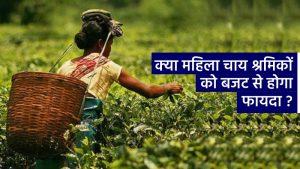 महिला चाय श्रमिकों को बजट से लाभान्वित किया जाएगा