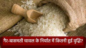 गैर-बासमती चावल पर निर्यात में वृद्धि