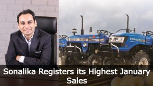 Sonalika Registers its Highest Ever Overall January Sales of 10,158 tractors