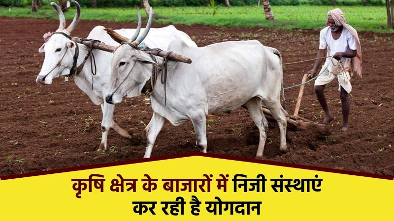 खेत क्षेत्र के बाजारों में 38 निजी संस्थाओं ने 301.19 करोड़ रुपये का किया निवेश