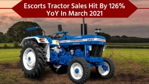 Escorts Sold 12,337 Tractors In March 2021