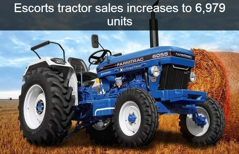 Escorts tractor sales increases to 6,979 units in April 2021 rising by an 890% YoY
