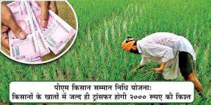 किसानों के खातों में ट्रांसफर होगी पीएम किसान सम्मान की ९'वी किश्त की राशि