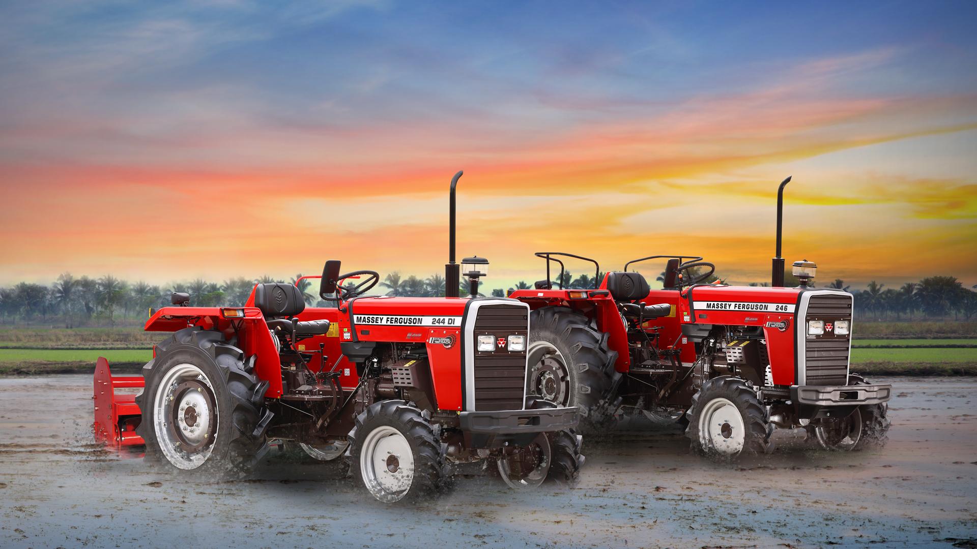 TAFE Launches Massey Ferguson 244 & 246 DYNATRACK – 4WD Tractors For West Bengal & Odisha