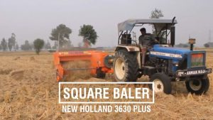 New Holland 3630 Tractor with Square Baler